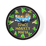 Space Monkey Mafia Wall Clock