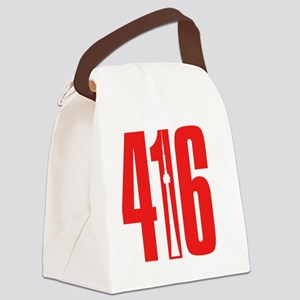 416 CN TOWER Red Canvas Lunch Bag