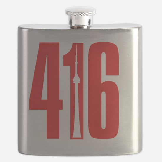 416 CN TOWER Red Flask