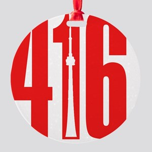 416 CN TOWER Red Round Ornament