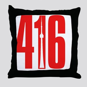 416 CN TOWER Red Throw Pillow
