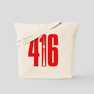 416 CN TOWER Red Tote Bag
