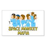 Space Monkey Mafia Rectangle Sticker
