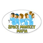Space Monkey Mafia Oval Sticker