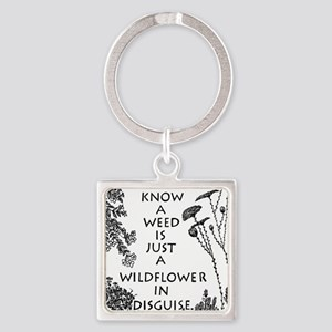 Wise People Do Not Judge Square Keychain