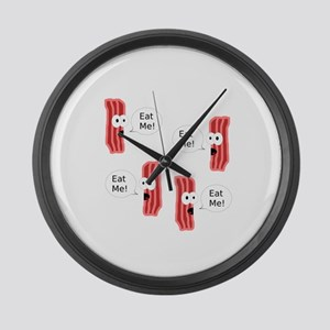 Eat Me Bacon Large Wall Clock
