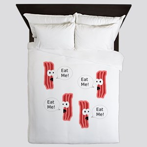Eat Me Bacon Queen Duvet