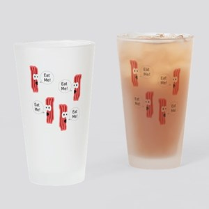 Eat Me Bacon Drinking Glass