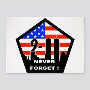 911 never forget 5'x7'Area Rug