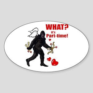 Part-time Cupid Bigfoot Anti-Valentine Sticker (Ov