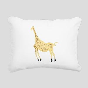 Rock Art Giraffe Rectangular Canvas Pillow