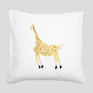 Rock Art Giraffe Square Canvas Pillow