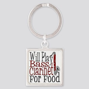 Will Play Bass Clarinet Square Keychain