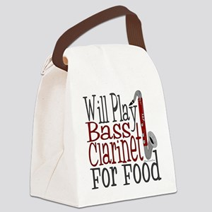Will Play Bass Clarinet Canvas Lunch Bag