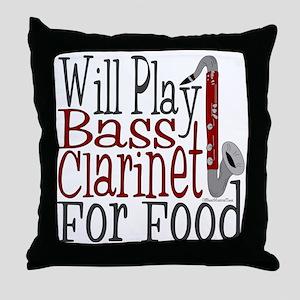 Will Play Bass Clarinet Throw Pillow