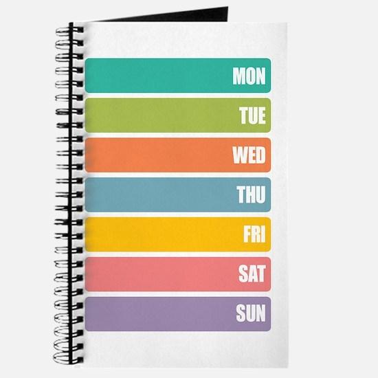 Basic Days of Week Journal