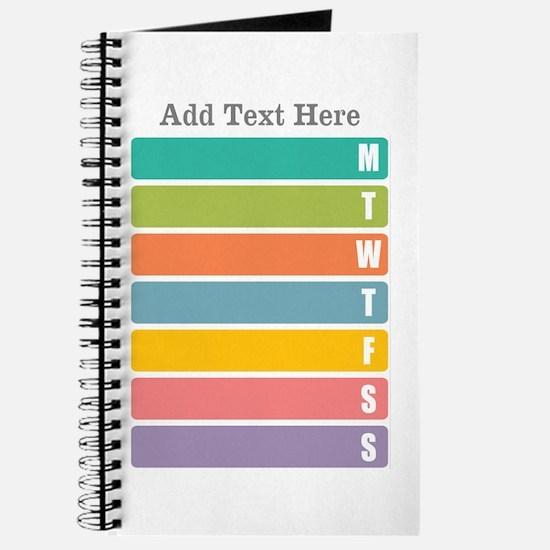 Week Planner Colorful Journal