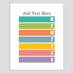Week Planner Colorful Posters