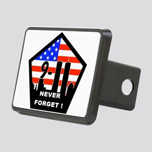 911 never forget Rectangular Hitch Cover