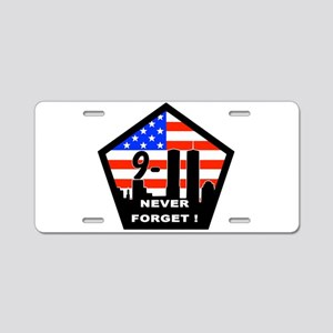 911 never forget Aluminum License Plate