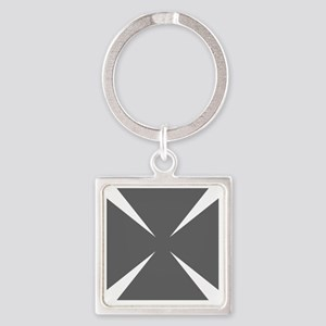 Cross Formee Pattee - Grey Square Keychain
