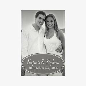 Wedding Photo Gray Magnets