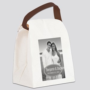 Wedding Photo Gray Canvas Lunch Bag