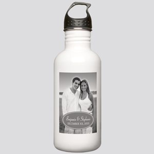 Wedding Photo Gray Water Bottle