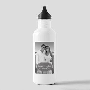 Wedding Photo Gray Water Bottle