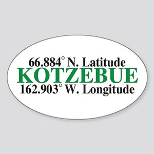 Kotzebue Latitude Oval Sticker