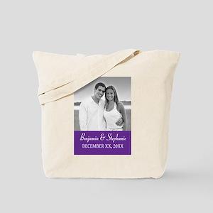 Wedding Photo Purple Tote Bag