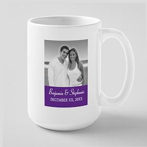 Wedding Photo Purple Mugs