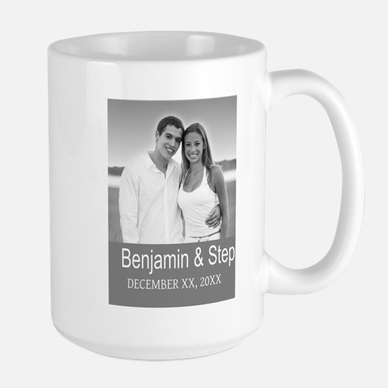 Wedding Photo Gray Mugs