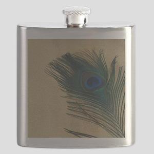 Metallic Gold Peacock Flask
