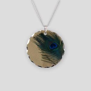 Metallic Gold Peacock Necklace