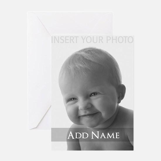Add Photo Modern Design Greeting Cards