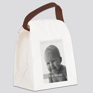 Add Photo Modern Design Canvas Lunch Bag