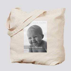 Add Photo Modern Design Tote Bag