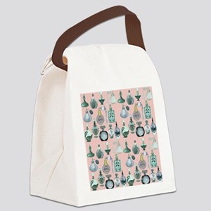 perfume bottles shower curtain Canvas Lunch Bag