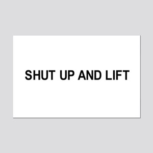 Shut up and lift / Gym humor Mini Poster Print