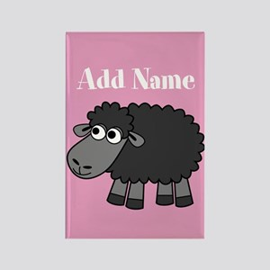 Black Sheep Add Name Pink Magnets