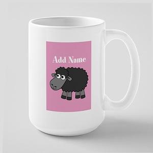 Black Sheep Add Name Pink Mugs