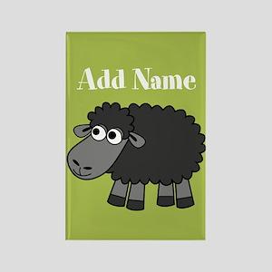 Black Sheep Add Name Lime Magnets