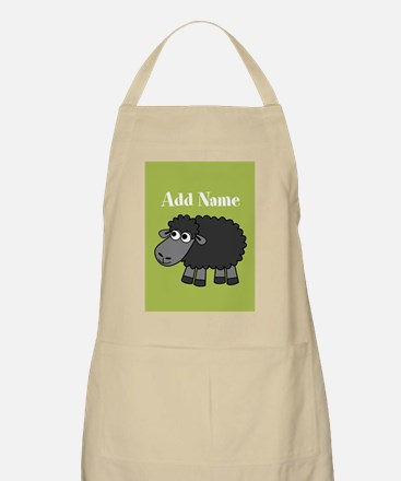 Black Sheep Add Name Lime Apron