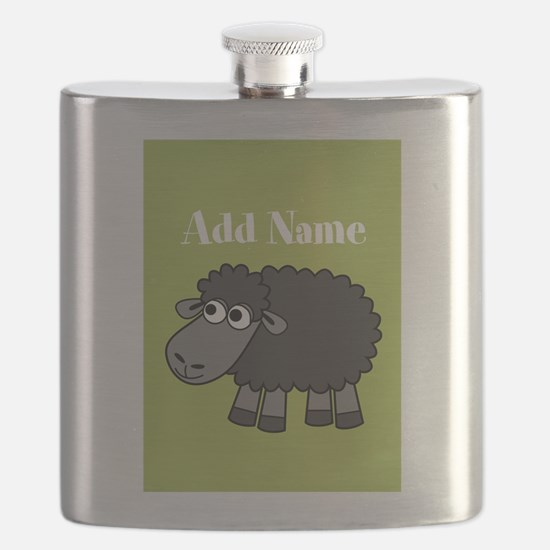 Black Sheep Add Name Lime Flask