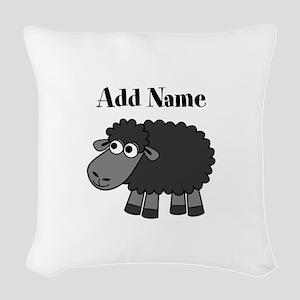 Black Sheep Add Name Woven Throw Pillow