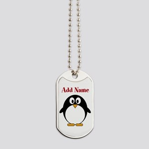 Modern Penguin Add Name Dog Tags
