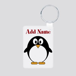 Modern Penguin Add Name Keychains