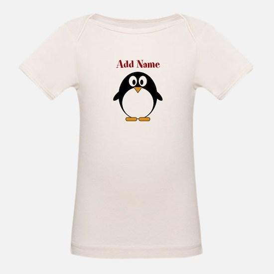 Modern Penguin Add Name T-Shirt
