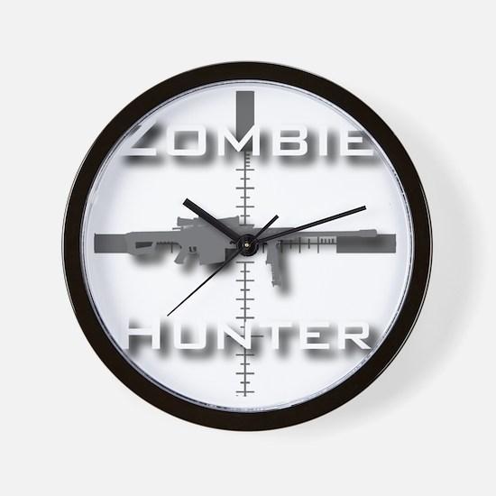 Zombie Hunter Wall Clock